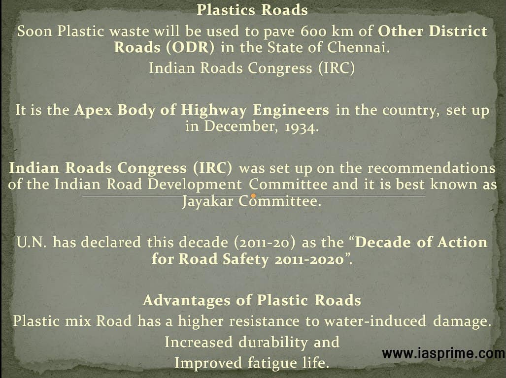 plastic waste uses in making roads