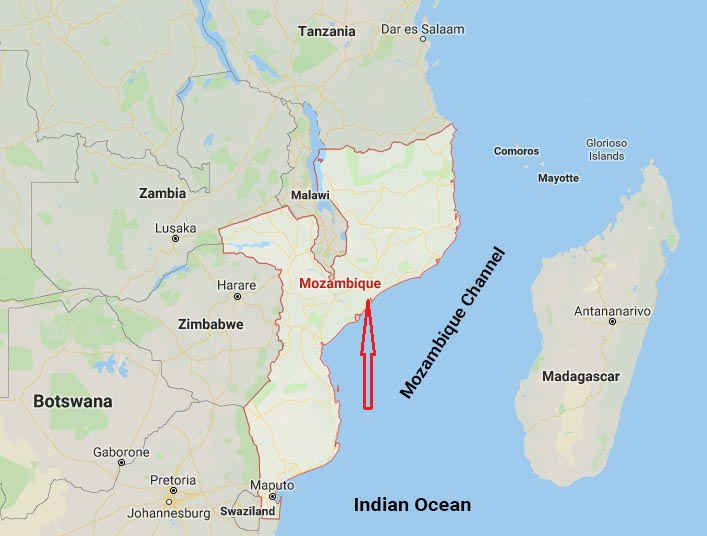 Map Mozambique