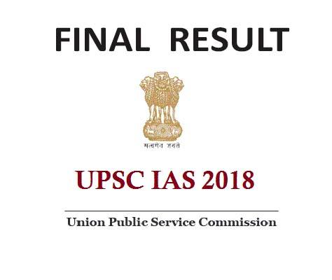 UPSC IAS FINAL RESULT 2018