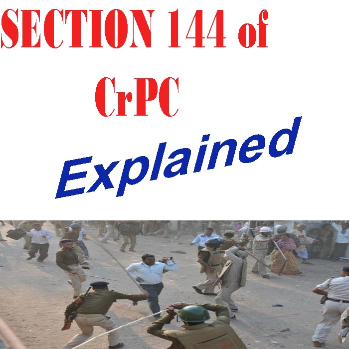 144 Section Rules In India