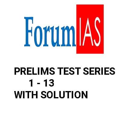 Forum IAS Prelims Test Series 2020