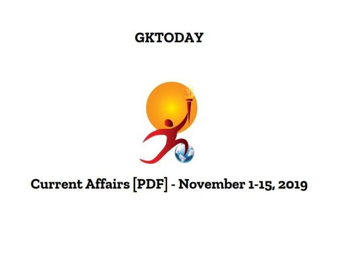 GKToday Current Affairs November 2019 pdf