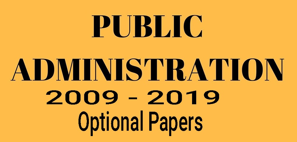 UPSC Mains Public Administration Optional Paper