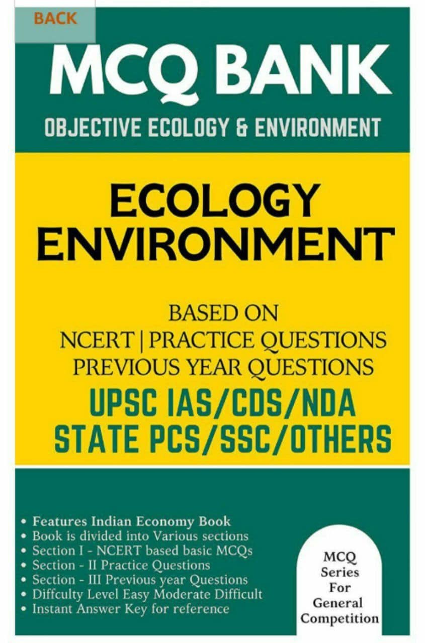 Environment and Ecology MCQ for UPSC  PDF