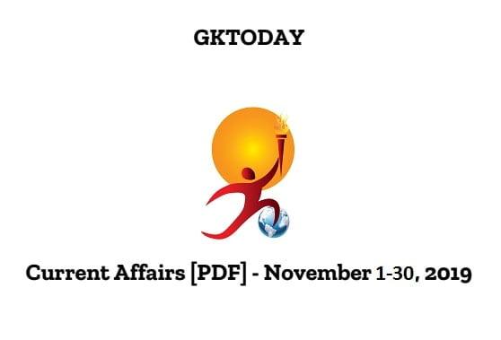 GK TODAY NOVEMBER 2019 PDF