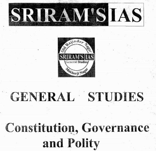 SriRam IAS Polity Notes 2019pdf