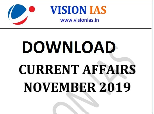 Vision IAS Current Affairs November 2019 pdf