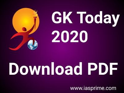 GKToday Current Affairs 2020