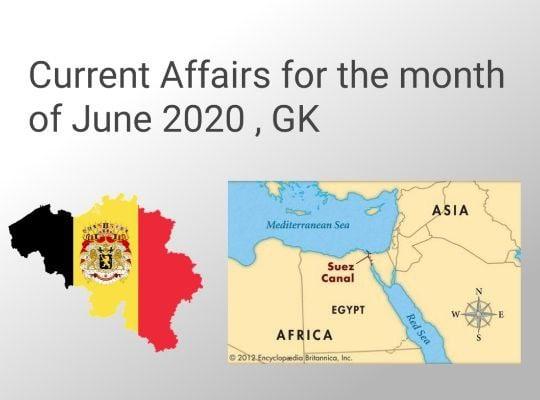 GradeUp Current Affairs 2020 June