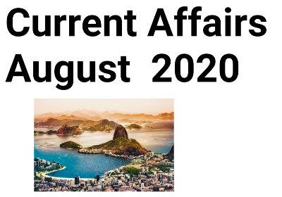 Current Affairs August 2020 the hindu