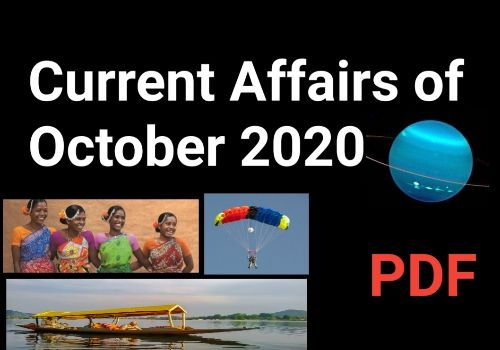 Current Affairs October 2020 PDF